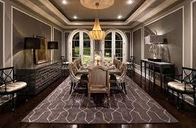 Stunning Mediterranean Style Dining Room In Gray Design Jennifer Bevan Interiors