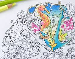 Mandala Coloring Page Seahorse Pages For Adults