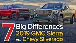 7 Differences Between The 2019 GMC Sierra & Chevrolet Silverado: The ...