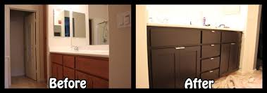 Cabinet Refinishing Kit Before And After by Bathroom Cabinet Refacing Kit Home Design Ideas