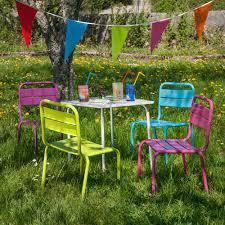 chaise de jardin enfant salon jardin children pour enfant table et 4 chaises oogarden