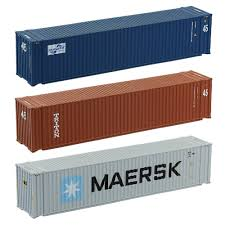 100 Shipping Container Model US 1721 18 OFF2pcs 45ft S 1150 N Scale Freight Car Trains Lot C15010 Railway Ingin Building Kits