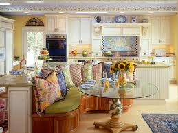 French Country Kitchen Blue Yellow Home Decor Style Kitchens 25 Top Creative Finishes