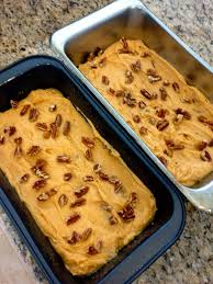 Bobby Flay Pumpkin Bread Pudding by Pecan Pumpkin Bread With Warm Caramel Glaze My Sweet Mission