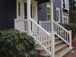 outside porch handrails for stairs precious vinyl deck stair Porch
