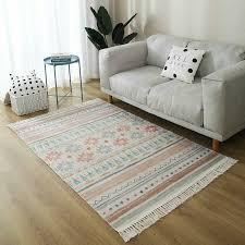 nordic grau weiß teppiche für wohnzimmer vintage marokko teppich schlafzimmer baumwolle gewebt bereich teppich türkei amerikanischen stil teppich
