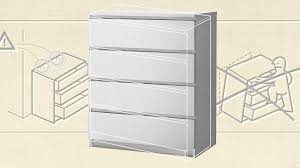 Hemnes 6 Drawer Dresser White by No Dressers Don U0027t Need To Be Anchored To A Wall Co Design