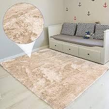 amazinggirl hochflor teppich wohnzimmerteppich langflor teppiche für wohnzimmer flauschig shaggy schlafzimmer bettvorleger outdoor carpet beige