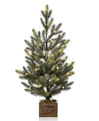 Martha Stewart Collection Small LED Snowy Pine Tree With Merry