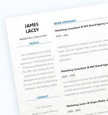 Fresh CV Template Close Up