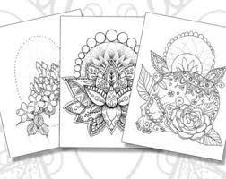 Adult Coloring Books Printable Pages And By RobinElizabethArt