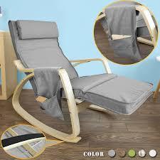 sobuy fst18 dg éponge plus épais rocking chair fauteuil à bascule