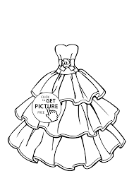 Download Coloring Pages Beautiful Wedding Dress Page For Girls Printable Free
