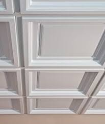 madison white 2 ft x 2 ft lay in coffered ceiling panel case of