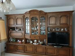wohnzimmer schrankwand eiche rustikal massiv top gepflegt