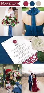 Marsala And Indigo Blue Wedding Color Ideas