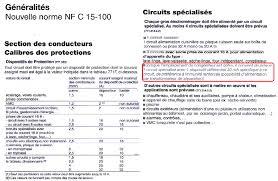 norme nfc 15 100 cuisine bricolage électricité conseils branchement ajouter une prise et