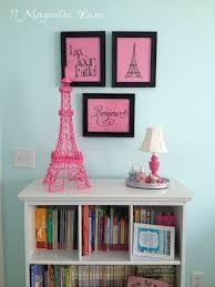 Girls Bedroom W Aqua Blue Pink Green With Paris Accents