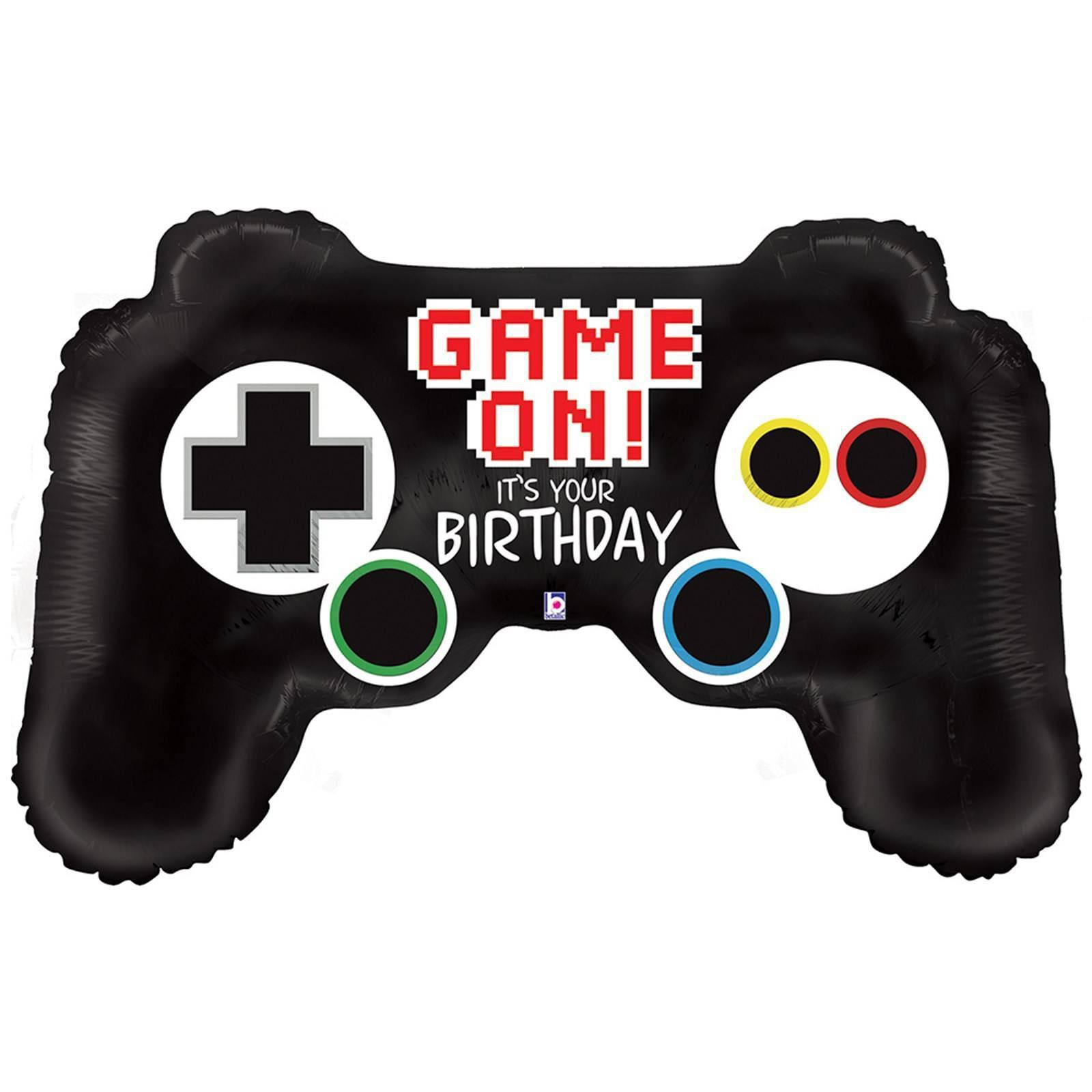 "Game Controller Birthday Supershape Foil Helium Balloon - 36"", 11pc"