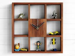 Bed Bath And Beyond Decorative Wall Clocks by Large Wall Clock Shadow Box Shelf Rustic Centerpiece Wall