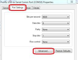 how to change the port for a usb serial adapter on windows 7