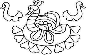Online Colouring Rangoli Patterns Coloring Printable Page For Kids