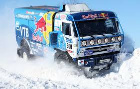 Wallpaper Winter, Blue, Snow, Truck, Red Bull, 500, Kamaz, Rally ...