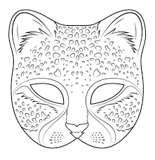 Click To See Printable Version Of Cheetah Mask Coloring Page