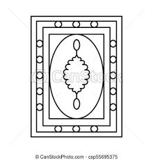 Turkish Carpet Icon Outline Style