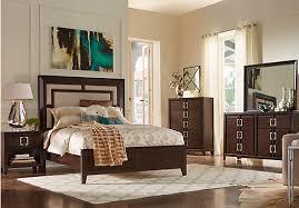 sofia vergara santa clarita dark cherry 5 pc king bedroom with