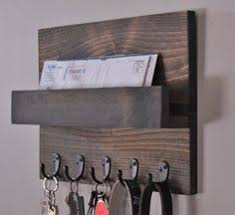 Rustic Mail And Key Rack Holder BlueLineGarage