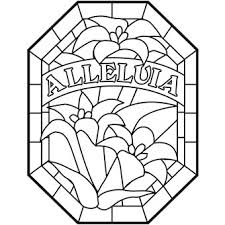 Alleluia Lily Coloring Sheet To Bury Before Lent And Retrieve On Easter Morning