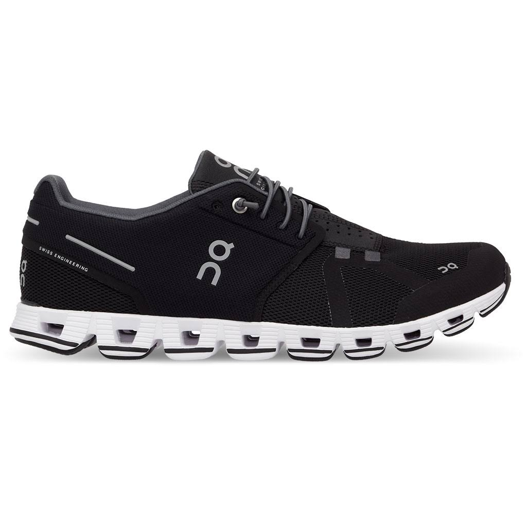 on Women's Cloud Running Shoes - Black/White - 7.5