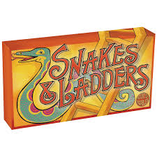 Vintage Snakes Ladders Board Game