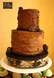 Pinecone Cake Rustic Two Tier Wedding