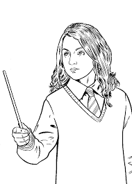 Harry Potter Coloring Pages Hermione