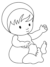 Baby Coloring Pages Free Printable Ba For Kids Images