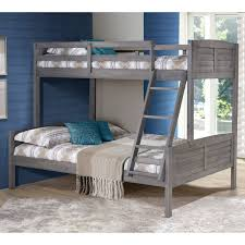 Woodcrest Bunk Beds by Donco Louver Twin Over Full Bunk Bed Antique Grey Hayneedle