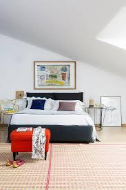 doppelbett mit designerstuhl als bild kaufen 12502465