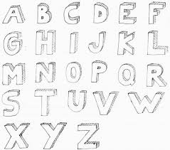 drawing shadows block letters kuvis Pinterest