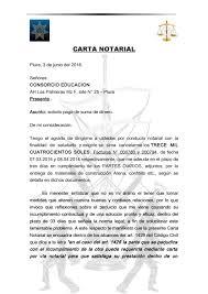 Carta Notarial Exigiendo Suma De Dinero Adeudada By Rolando Ramirez