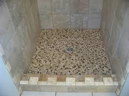 fabulous small bathroom shower decoration using square travertine