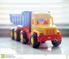 Toy Dump Truck Close Up Stock Image. Image Of Industrial - 82156239