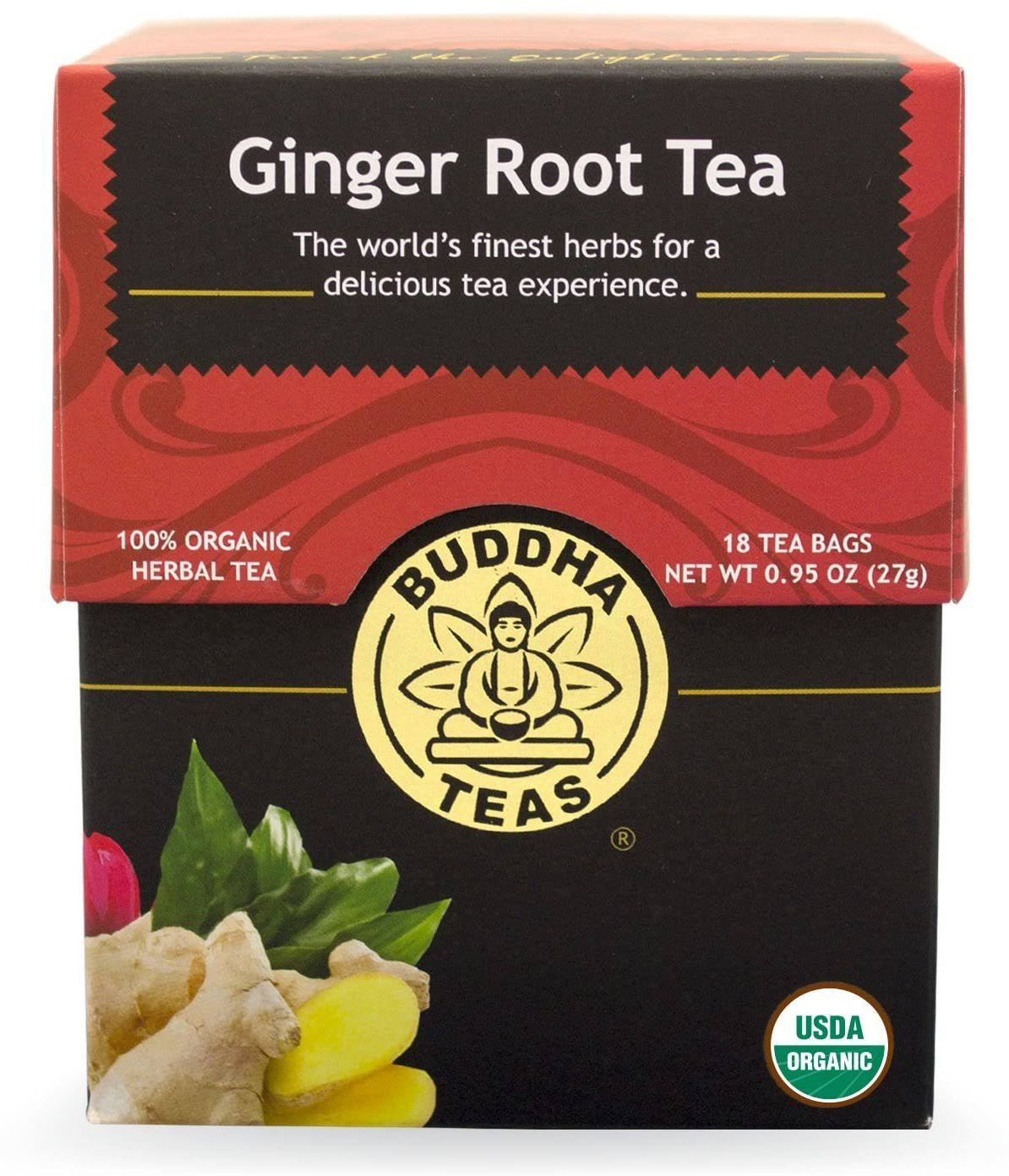 Buddha Teas Herbal Tea - Ginger, 18 Bags