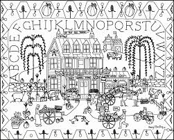 1280x1024 Old Time General Store Folk Art Coloring Design
