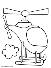 Toddlers Coloring Pages Helicopters To Print