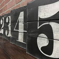 NUMBER WALL ART Rustic House Numbers Subway Number Artwork Urban Farmhouse Decor Industrial