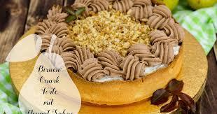 birnen quark torte mit nougat sahne marion s kaffeeklatsch