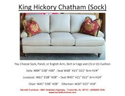 King Hickory Sofa Quality by Barnett Furniture Average Size Sofa 84