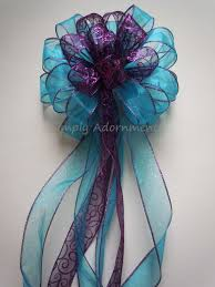 Purple Blue Winter Wedding Pew Bow Christmas Tree Topper Birthday Shower Party Decoration Gift